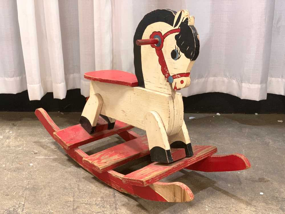 Cool Vintage Child Sized Rocking Horse Ga Prop Source Gmtry Best Dining Table And Chair Ideas Images Gmtryco