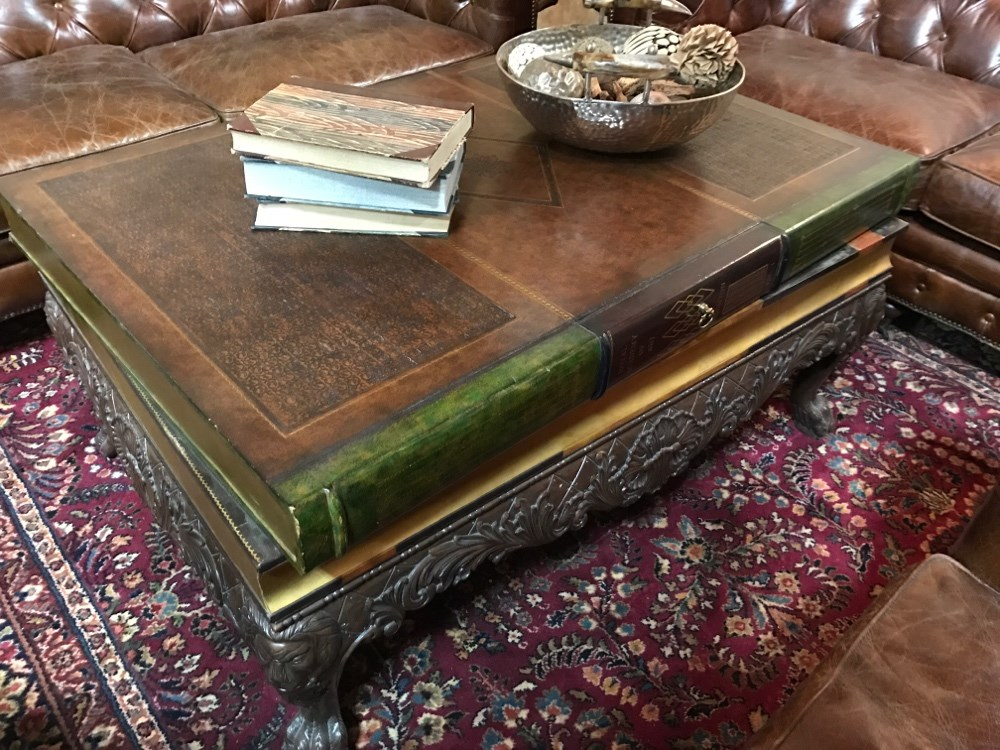 Maitland Smith Stacked Book Coffee Table Ga Prop Source