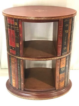 SIDE TABLE, SHELVING UNIT, FAUX BOOK INLAY, 2 AVAILABLE