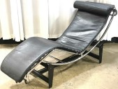 MODERN CHAISE LOUNGE, STEEL FRAME