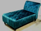 TEAL CHAISE LOUNGE, ACCENT PILLOW,  2 AVAILABLE